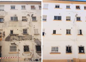 Pintura de comunidad de vecinos. Reparación de edificio