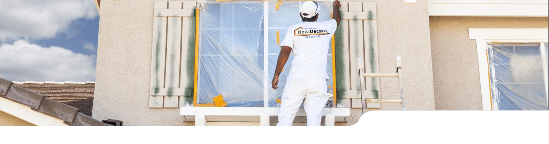 Pintores para exteriores de vivienda, casa o local. Servicios de pintura en Madrid y Segovia