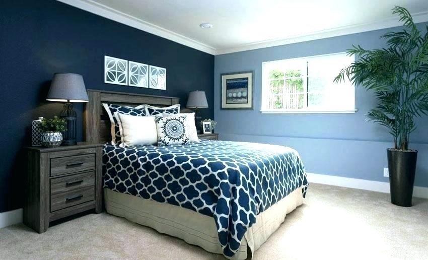 Pintura bicolor en dormitorio