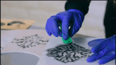 pintura decoracion estarcido stencil